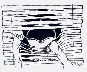 blind, blinds, and peeking image