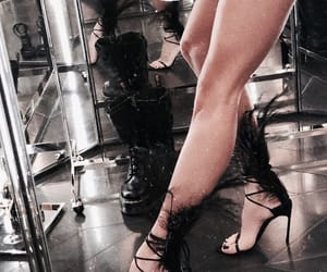 black, dress, and elegance image