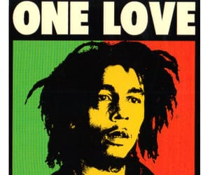 bob marley, one love, and reggae image