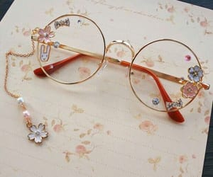 glasses, cute, and flowers image