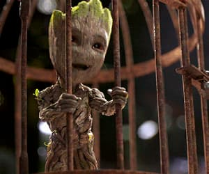 gif, Marvel, and groot image
