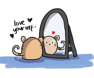 cats, doodles, and mirrors image