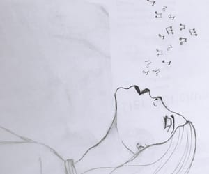 black, drawing, and music image