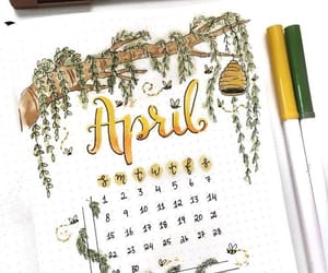 april, yellow, and bullet journal image