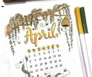 bullet journal, april, and planner image