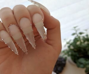 girl, nails, and chique image