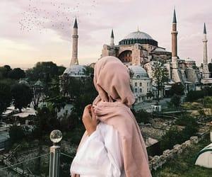 hijab, mosque, and muslim image