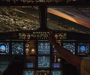 light, airplane, and pilot image