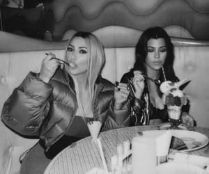 kim kardashian, kourtney kardashian, and kim image