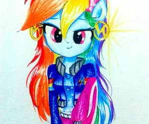 my little pony, equestria girls, and rainbow dash image