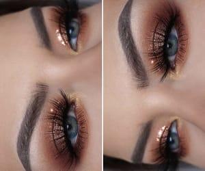 blue eyes, eyeshadow, and night image