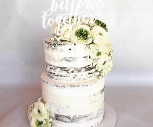 cake, wedding cake, and naked cake image