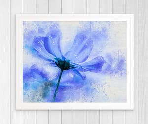 art, flowers, and watercolour image
