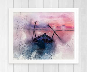 art print, wall art, and watercolor image