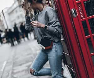 fashion, london, and red image