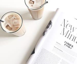 coffee, magazine, and white image