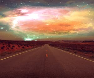 galaxy, sky, and road image