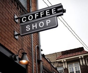 city, coffee, and street image