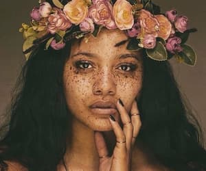 beauty, girl, and flowers crown image