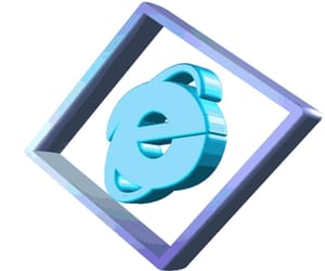 internet explorer, blue aesthetic, and aesthetic png image