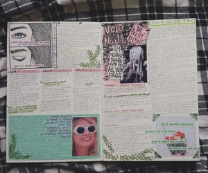 art journal, artwork, and band image