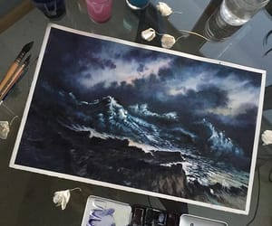 art, waves, and artsy image