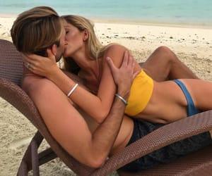 beach, sea, and couplegoals image
