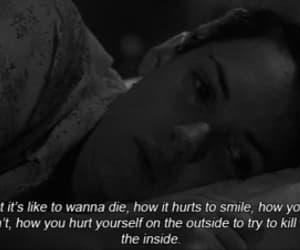 hurt, sad, and suicide image