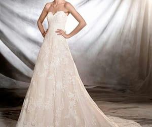 dress, pizzo, and wedding dress image