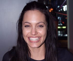 Angelina Jolie and smile image