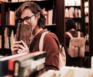books, glasses, and college image