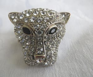etsy, cat ring, and statement ring image