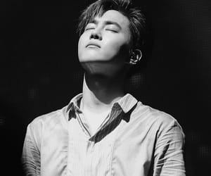 black and white, kpop, and leader image