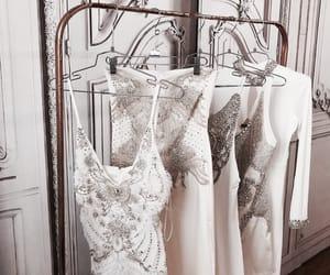 white, dress, and luxury image