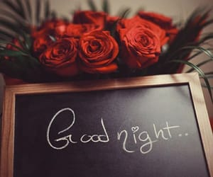 flowers and good night image
