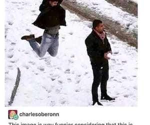 funny, snow, and tumblr image
