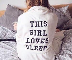 girl, sleep, and bed image