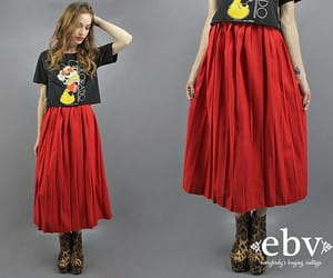 etsy, fashion, and red skirt image