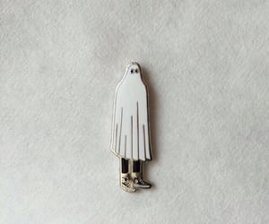 ghost, pin, and aesthetic image