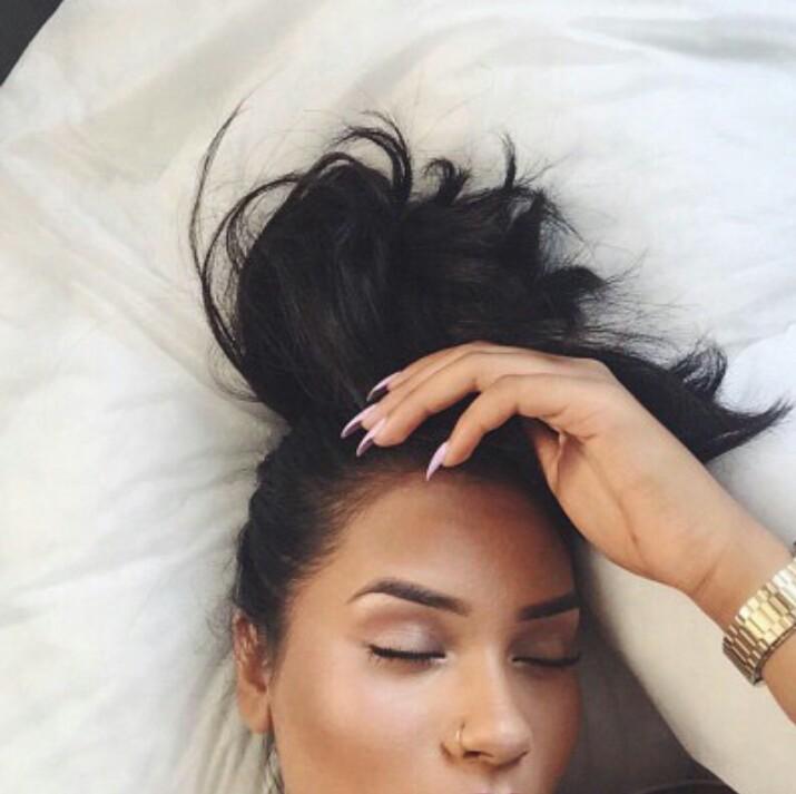 girl, hair, and eyebrows image