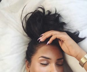 girl, hair, and eyebrows image