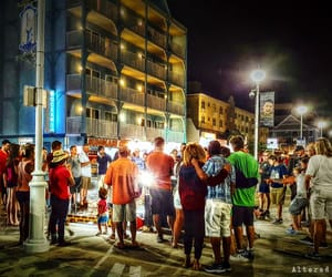 after dark, people, and ocean city image