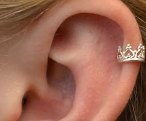 piercing, crown, and ear image