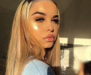 blonde, blush, and eyebrows image