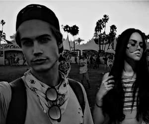 coachella, couple, and fashion image