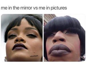funny, mirror, and rihanna image
