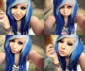 blue hair, hair, and verena schizophrenia image