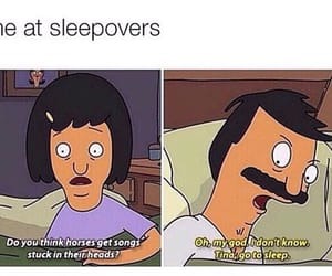 funny, sleepover, and bobs burgers image