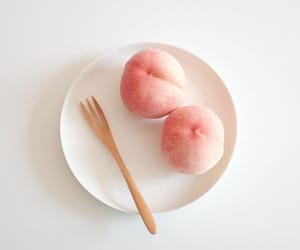 fruit, peach, and pink aesthetic image