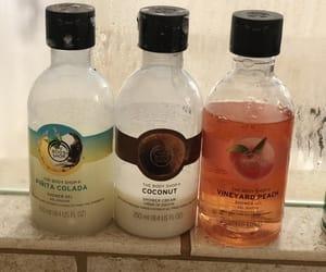 peach, body wash, and beach image